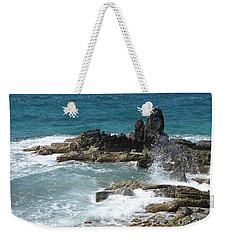 Ocean Spray Mid-air Weekender Tote Bag by Margaret Brooks