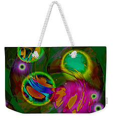 Weekender Tote Bag featuring the digital art Ocean Storm by Lynda Lehmann