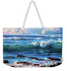 Coastal Ocean Sunset At Turtle Bay, Oahu Hawaii Beach Seascape Weekender Tote Bag