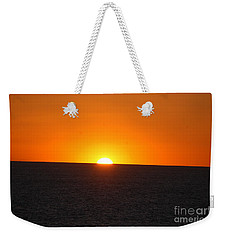 Weekender Tote Bag featuring the photograph Ocean Sunset by Frank Stallone
