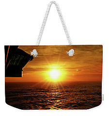 Ocean Sunset Weekender Tote Bag by Sue Melvin
