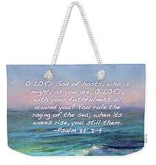 Ocean Symphony With Bible Verse Weekender Tote Bag