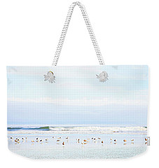 Weekender Tote Bag featuring the photograph Ocean View With Seagulls by Theresa Tahara