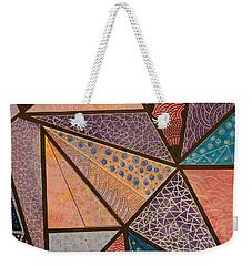 Weekender Tote Bag featuring the mixed media Oceana  by Riana Van Staden