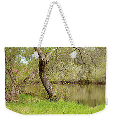 Weekender Tote Bag featuring the photograph Oceano Lagoon by Art Block Collections