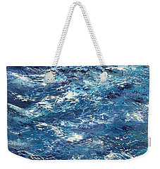 Ocean's Blue Weekender Tote Bag by Valerie Travers