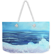 Oceans Fall Weekender Tote Bag
