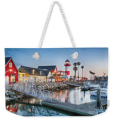 Oceanside Harbor Village At Dusk Weekender Tote Bag