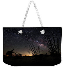 Ocotillo And Dino Milky Way Weekender Tote Bag