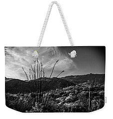 Ocotillo At Sunrise Weekender Tote Bag