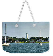 Ocracoke Island Lighthouse From Silver Lake Weekender Tote Bag