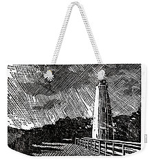 Weekender Tote Bag featuring the painting Ocracoke Island Lighthouse II by Ryan Fox