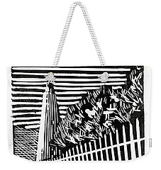 Weekender Tote Bag featuring the painting Ocracoke Island Lighthouse by Ryan Fox