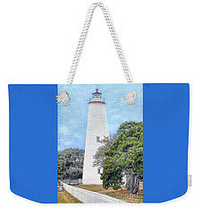 Ocracoke Lighthouse Weekender Tote Bag by Marion Johnson