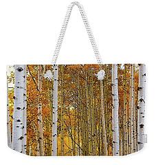 October Aspen Grove  Weekender Tote Bag by Deborah Moen