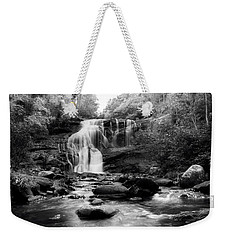 October At Bald River Falls In Black And White Weekender Tote Bag