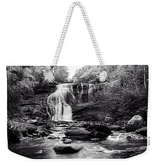 October At Bald River Falls Sepia Weekender Tote Bag