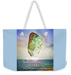 October Birthstone Opal Weekender Tote Bag