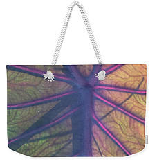 Weekender Tote Bag featuring the photograph October Leaf by Peg Toliver