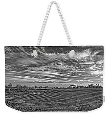 October Patterns Bw Weekender Tote Bag