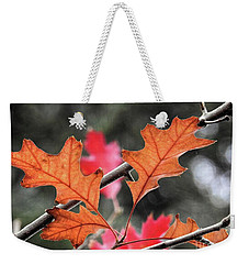 Weekender Tote Bag featuring the photograph October by Peggy Hughes