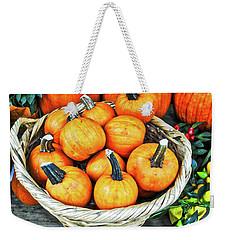 October Pumpkins Weekender Tote Bag by Joan Reese