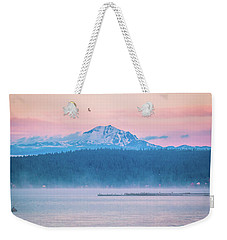 Weekender Tote Bag featuring the photograph October Snow by Jan Davies