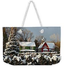 October Snow Weekender Tote Bag