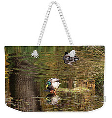 Weekender Tote Bag featuring the photograph October Sun Moment by I'ina Van Lawick