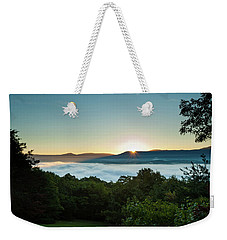 Weekender Tote Bag featuring the photograph October Sunrise 2016 by Lara Ellis