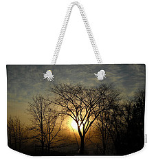 October Sunrise Behind Elm Tree Weekender Tote Bag