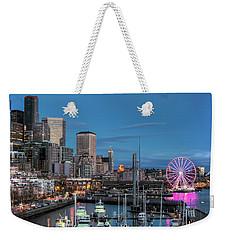 October Twilight Seattle Waterfront Weekender Tote Bag