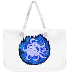Weekender Tote Bag featuring the digital art Octopus And Trees by Adria Trail