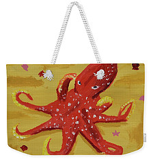 Weekender Tote Bag featuring the painting Octopus by Anthony LaRocca