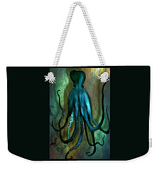 Weekender Tote Bag featuring the photograph Octopus Ocean Shadow Dance by Barbara Chichester