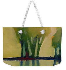 Weekender Tote Bag featuring the painting Odd Little Trees by Michelle Abrams