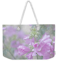 Odd Stemmed Wild Flower  Weekender Tote Bag by Sandra Foster