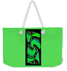 Weekender Tote Bag featuring the digital art Ode To Green by Will Borden