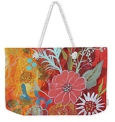 Weekender Tote Bag featuring the painting Ode To Spring by Robin Maria Pedrero