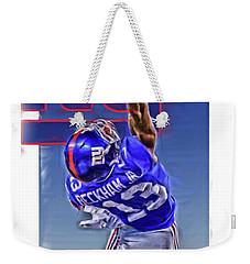 Odell Beckham Jr New York Giants Oil Art 2 Weekender Tote Bag