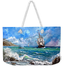 Weekender Tote Bag featuring the painting Odessa by Patrice Torrillo