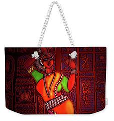 Weekender Tote Bag featuring the digital art Odissi Dancer by Latha Gokuldas Panicker