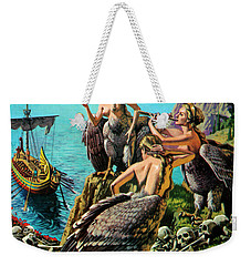 Odysseus And The Sirens Weekender Tote Bag by English School