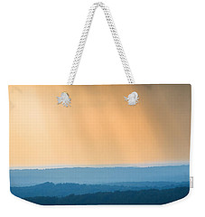 Weekender Tote Bag featuring the photograph Of Blue And Gold by Parker Cunningham