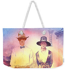 Of Lace And Light, Charlie And Anna, Circa 1915  Weekender Tote Bag by Tara Moorman