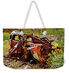Off The Cliff Weekender Tote Bag by Michael Cinnamond
