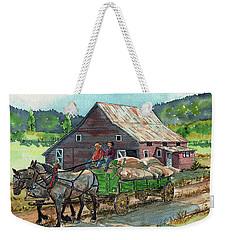 Off To Market Weekender Tote Bag
