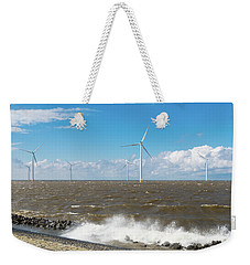 Weekender Tote Bag featuring the photograph Offshore Windmill Park by Hans Engbers