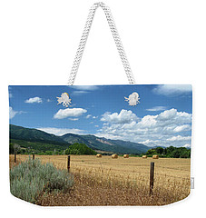 Ogden Valley Hay Bales Photo Weekender Tote Bag