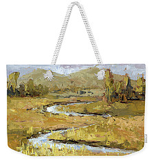 Weekender Tote Bag featuring the painting Ogden Valley Marsh by David King
